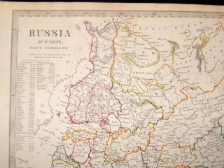 Map Of Europe 1840.Sduk 1840 Antique Map Russia In Europe Part 10 Albion Prints